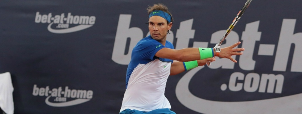 Bet at home sponsorem tenisa   na zdjęciu Rafael Nadal